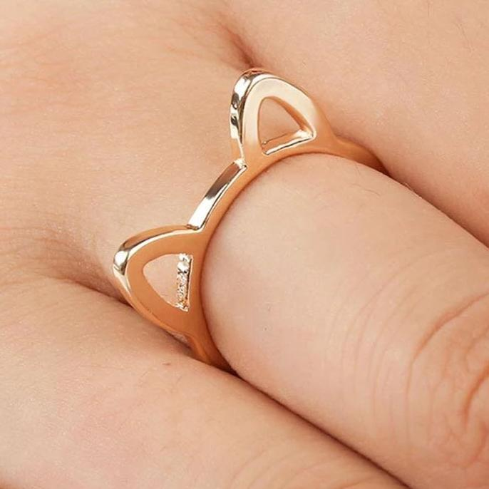 Bague Chat Oreille Simple Image 1