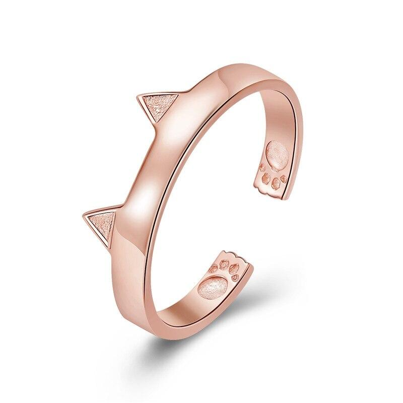 Bague Oreilles de Chat Or Rose