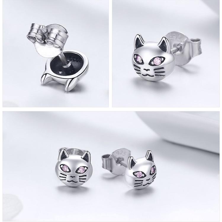 Boucles d'oreilles chat aux yeux perçants 3