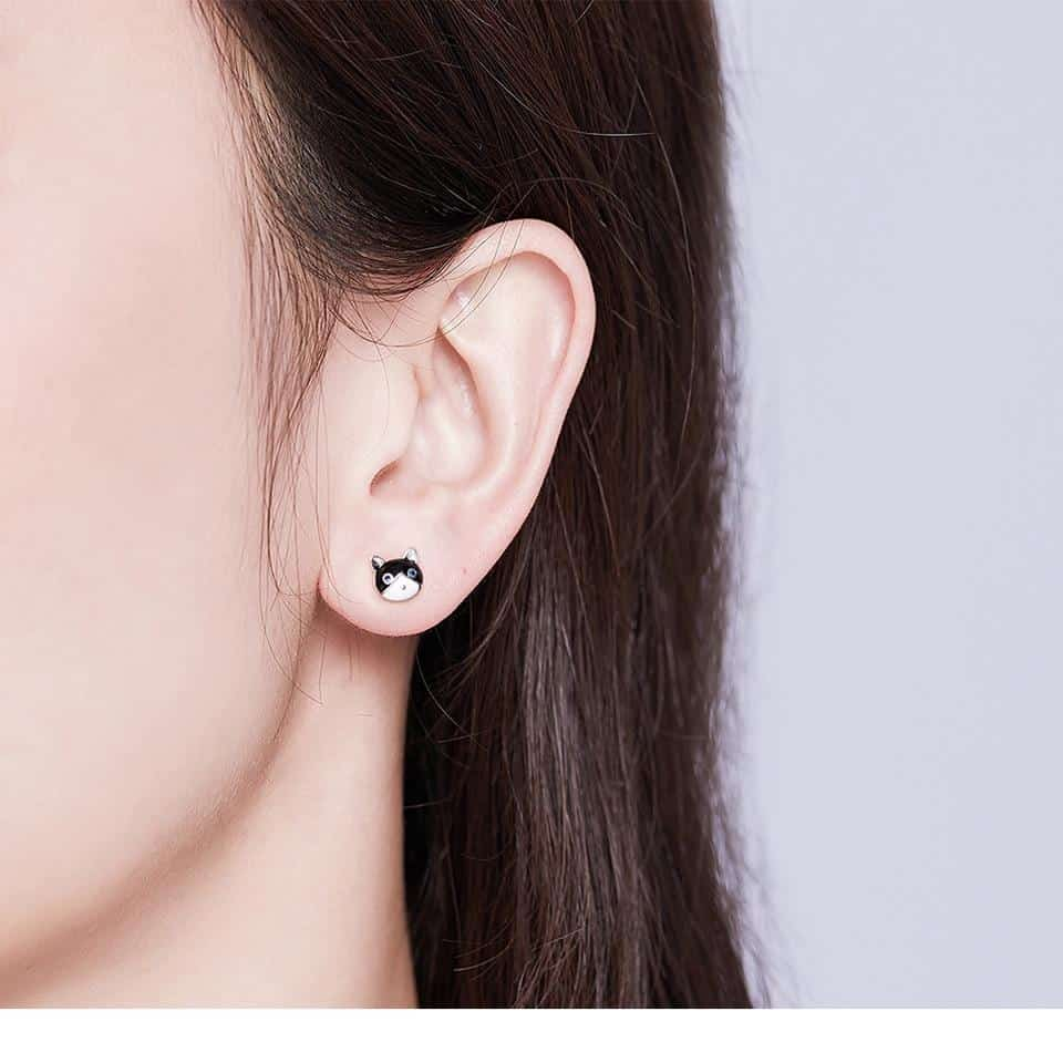 Boucles d'oreilles Chat Poisson 2