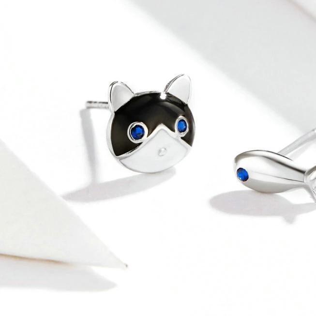 Boucles d'oreilles Chat Poisson 3