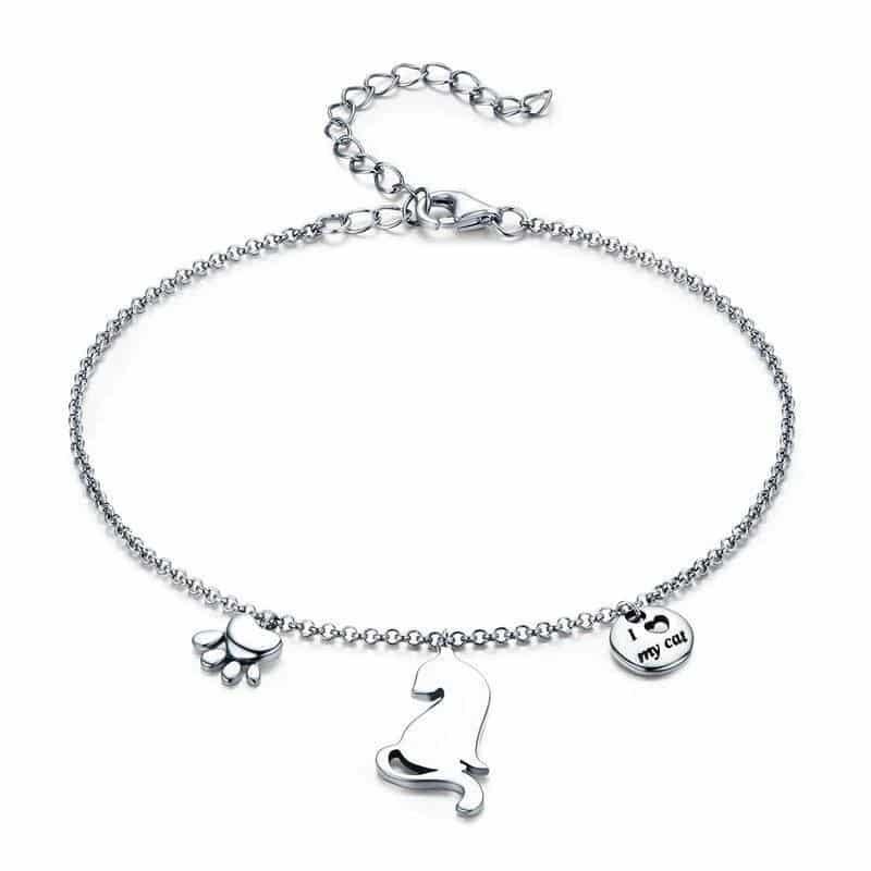 Bracelet Chat J'aime mon Chat