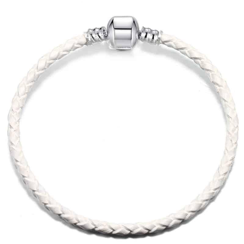 Bracelet en cuire blanc