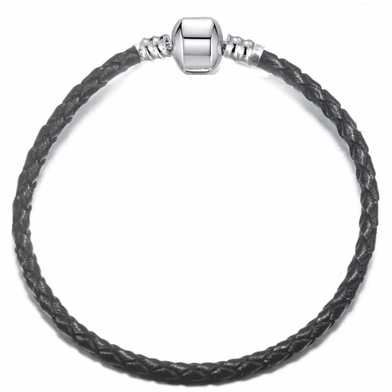 Bracelet en cuire noir