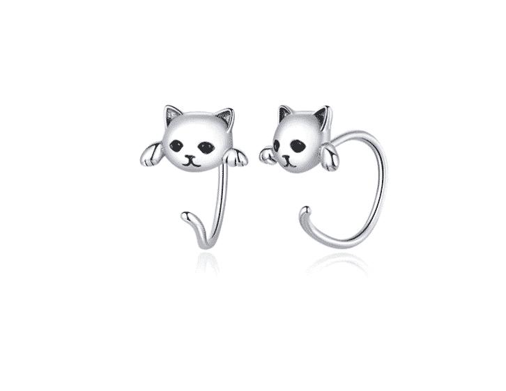 Boucle d'oreilles chat le tout fin 1
