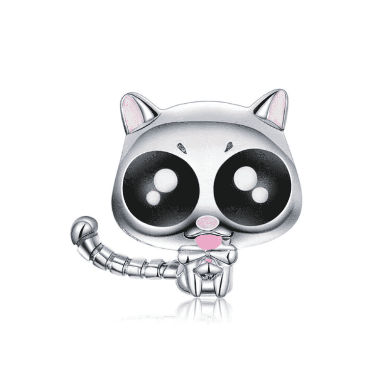 Chat chat en argent Big Eyes 1